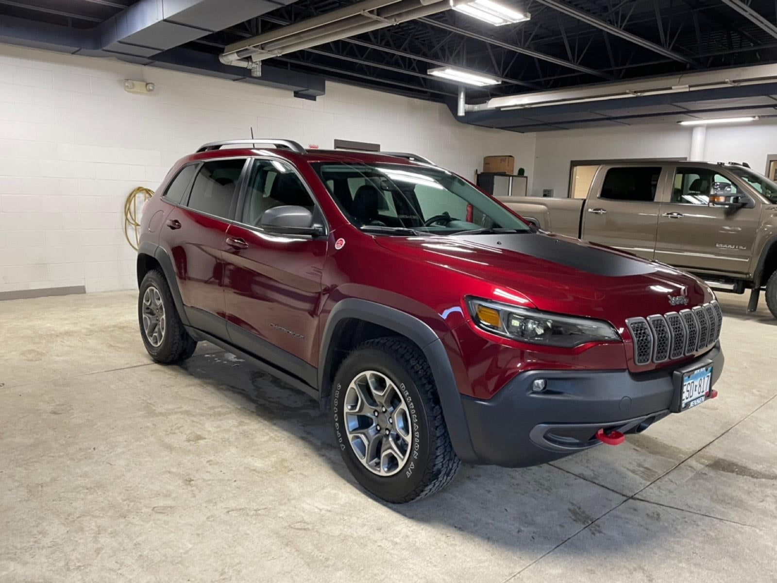 Certified 2021 Jeep Cherokee Trailhawk with VIN 1C4PJMBX7MD137545 for sale in New Ulm, Minnesota